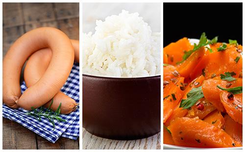 wecook riz aux saucisses et carottes. Black Bedroom Furniture Sets. Home Design Ideas