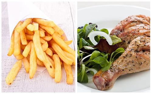 Wecook cuisses de poulet frites et salade - Cuisse de poulet calories ...