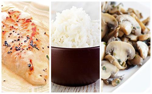 wecook escalope de veau la cr me champignons et riz. Black Bedroom Furniture Sets. Home Design Ideas