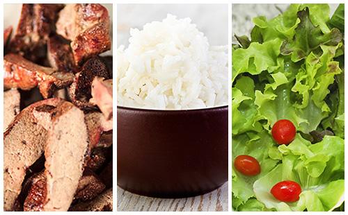 wecook foie de veau riz et salade d 39 endive. Black Bedroom Furniture Sets. Home Design Ideas