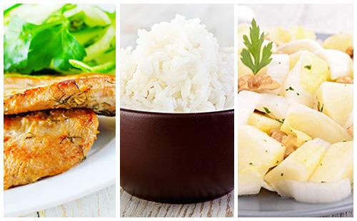 Escalope de veau, riz et salade d'endives