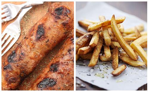 Andouillette et frites au four