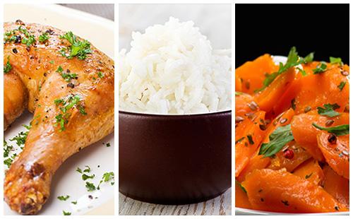 Cuisse de poulet carottes et riz wecook - Cuisse de poulet calories ...