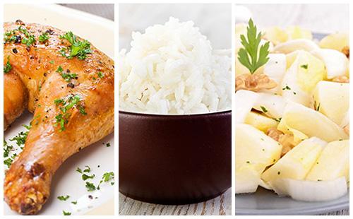 Wecook cuisse de poulet riz et salade d 39 endives - Cuisse de poulet calories ...