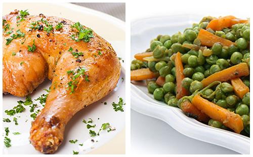 Wecook cuisses de poulet et petits pois carottes - Cuisse de poulet calories ...