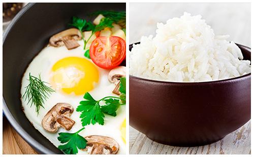 Oeufs à la provençale sur son riz blanc