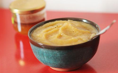 Compote de pommes au miel et citron