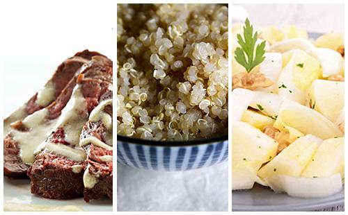 Bifteck sauce moutarde, quinoa et salade d'endives
