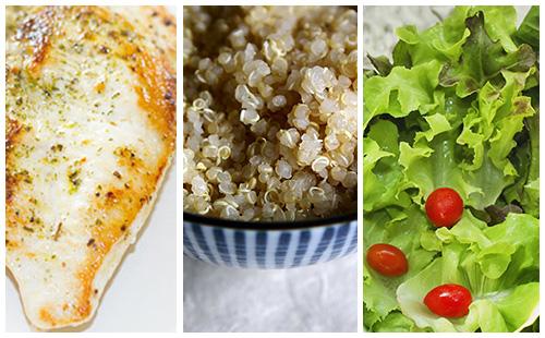 Wecook escalope de dinde au quinoa et salade verte - Salade verte calorie ...