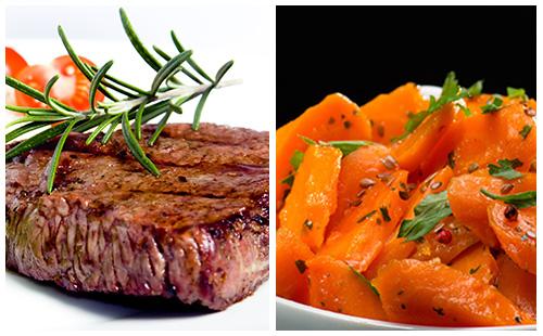 Bifteck et carottes