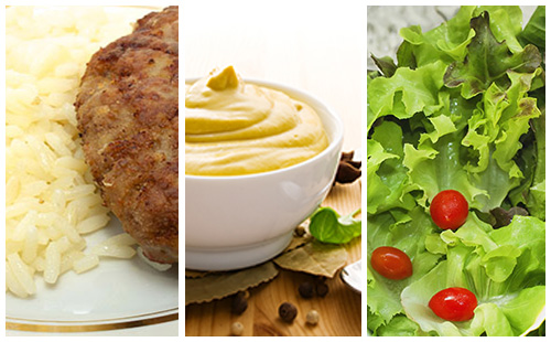 Wecook steak hach sauce moutarde riz et salade verte - Salade verte calorie ...