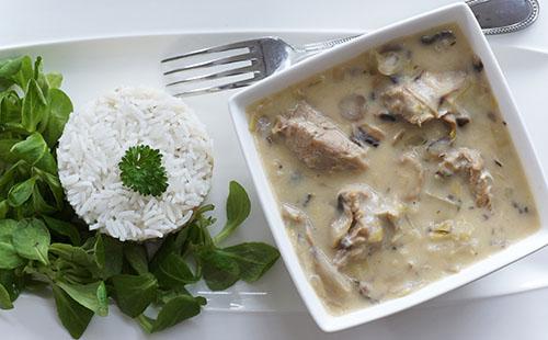 Blanquette de veau au lait de coco et riz