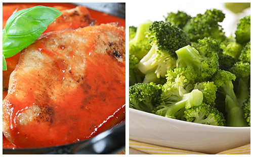 Côtes de porc au paprika, fenouil et carvi, brocolis