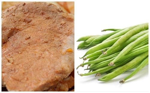 Côtes de porc à la crème de paprika, haricots