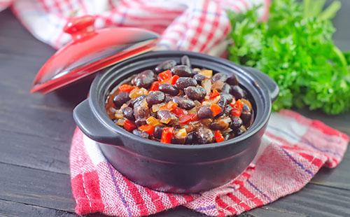 Chili de haricots noirs