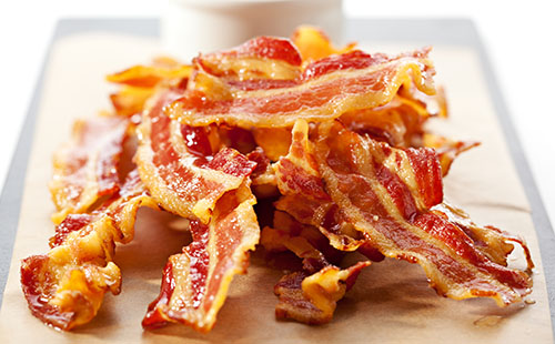 Chips au bacon