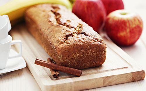 Cake pomme, poire, banane