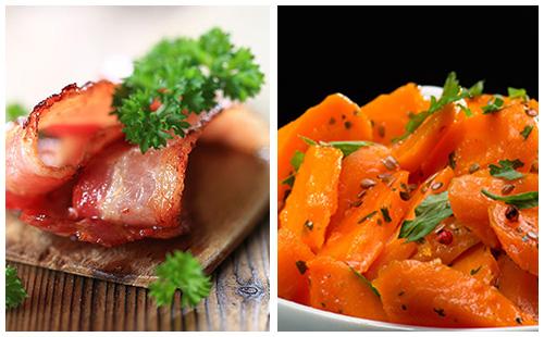 Bacon avec carottes