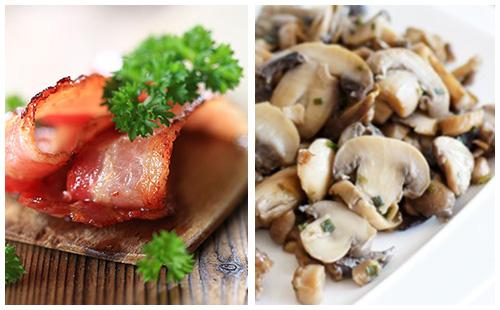 Bacon et champignons