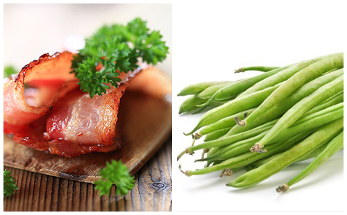 Bacon et haricots verts