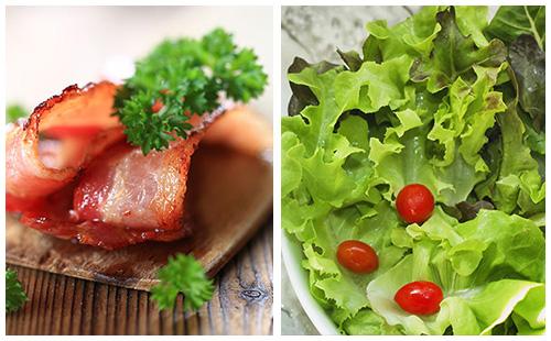 Bacon et salade