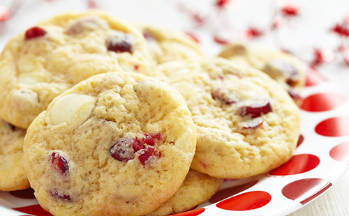 Cookies cranberry, noix de macadamia et chocolat blanc