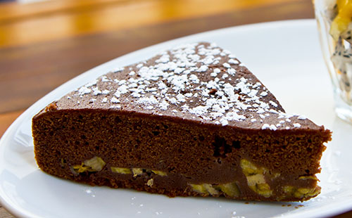 Gâteau fondant chocolat banane