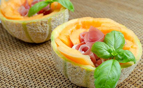 Chiffonade de melon