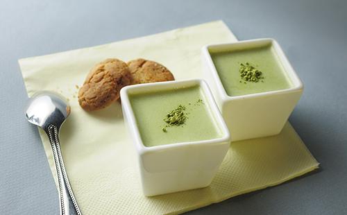 Panna cotta au thé vert