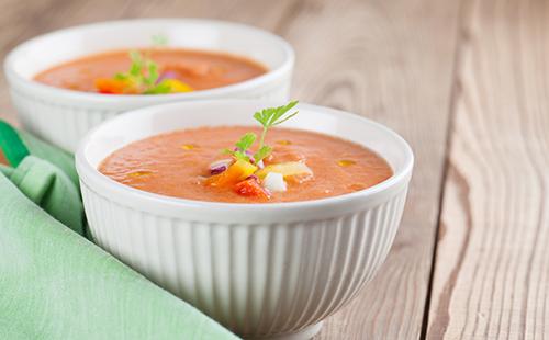 Gaspacho de poivrons rouges