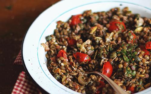 salade de lentilles alsacienne