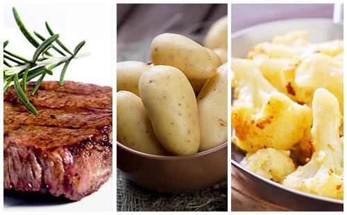 wecook bifteck au chou fleur et pommes de terre. Black Bedroom Furniture Sets. Home Design Ideas