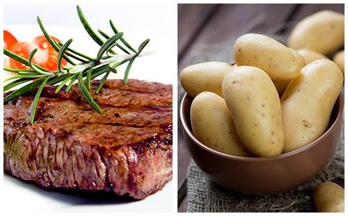 Bifteck et pommes de terre