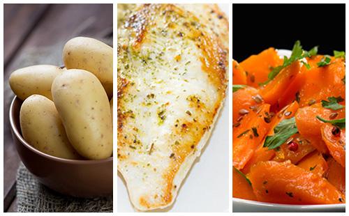 Escalope de poulet aux carottes et pommes de terre
