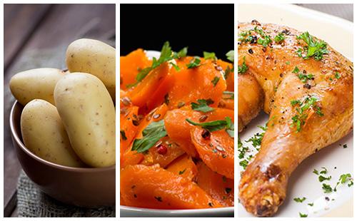Cuisse de poulet aux carottes et pommes de terre