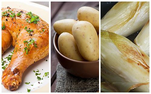 Wecook cuisse de poulet aux pommes de terre et endives - Cuisse de poulet calories ...