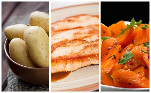 Côte de porc aux carottes et pommes de terre