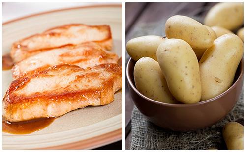 Côte de porc et pommes de terre