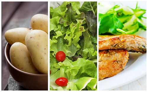 Escalope de veau aux pommes de terre et salade verte wecook - Salade verte calorie ...