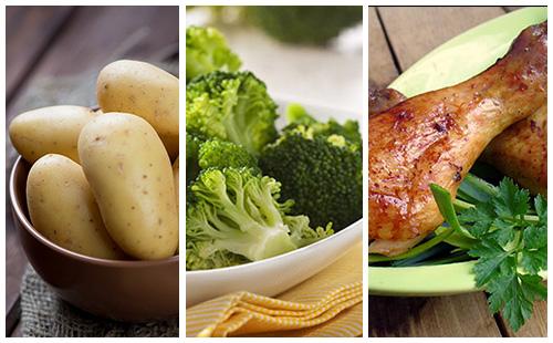 wecook pilons de poulet aux brocolis et pommes de terre. Black Bedroom Furniture Sets. Home Design Ideas
