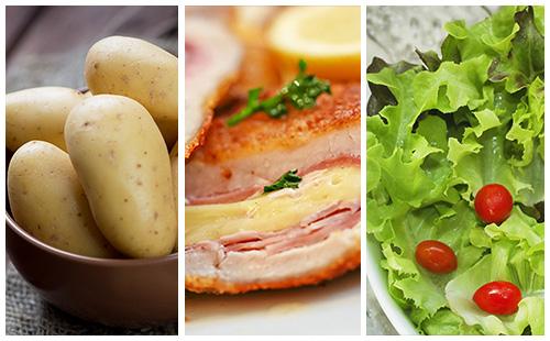 Wecook cordon bleu aux pommes de terre et salade verte - Salade verte calorie ...