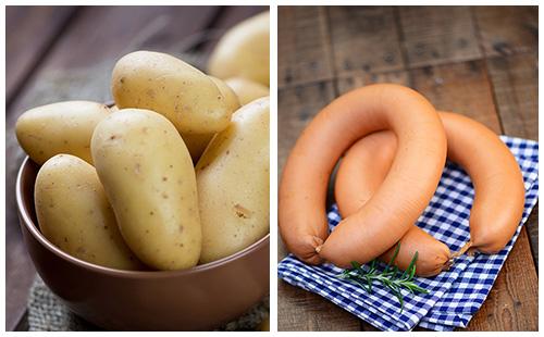 Saucisses et pommes de terre