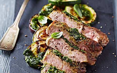Steak et sauce chimichurri