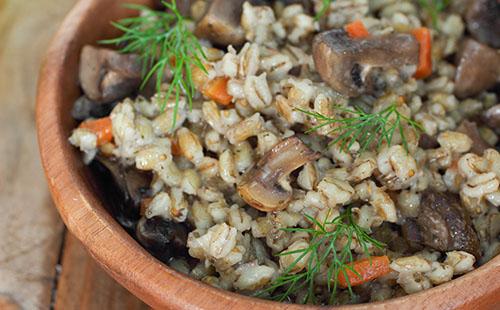 Blésotto aux champignons