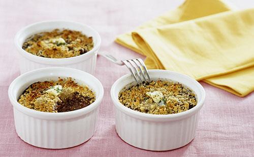 Parmentier de boudin noir au potiron et pain d'épices