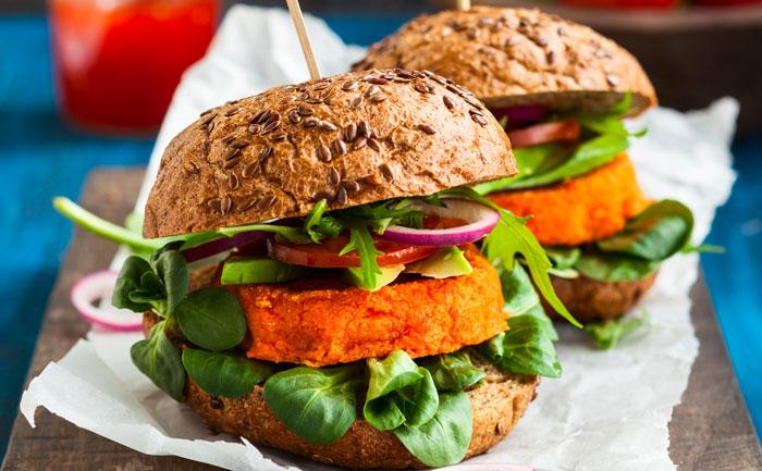 Burger végétarien au tofu