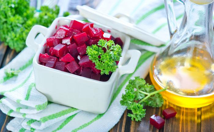 Betteraves en vinaigrette