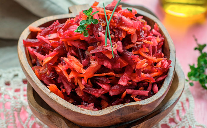 Salade fraîche de betteraves et carottes