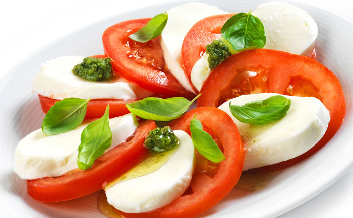 Salade tomates-mozzarella