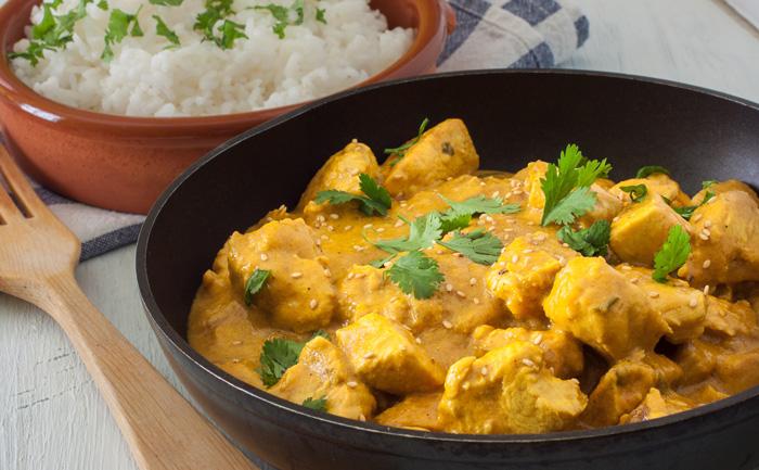 Poulet, curry et coco